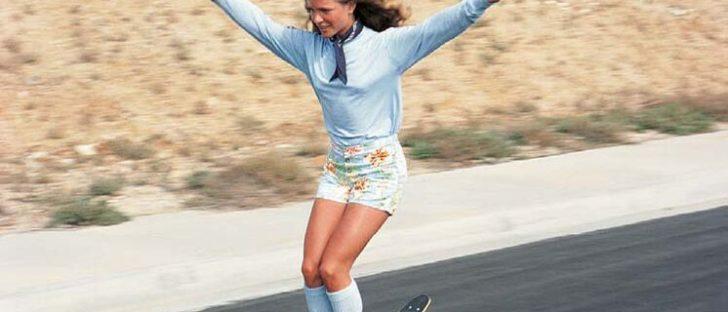 1970s skateboard girl